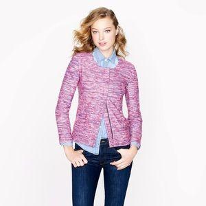 J. Crew Micro-tweed jacket in poppy
